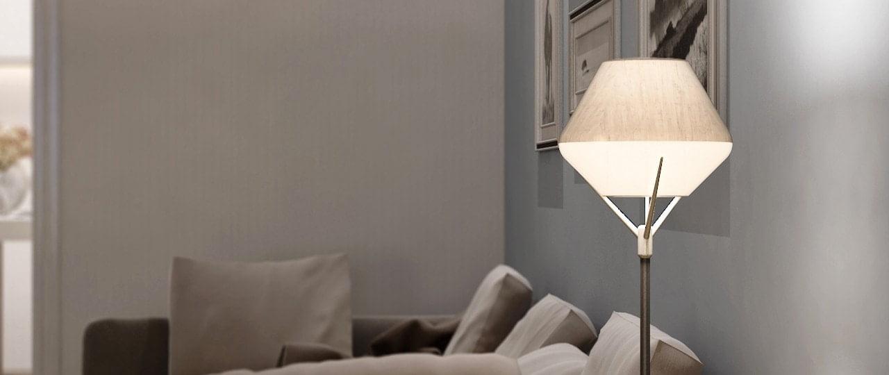 λάμπα με ανιχνευτή κίνησης lightshade tulip από την allocacoc geekers.gr