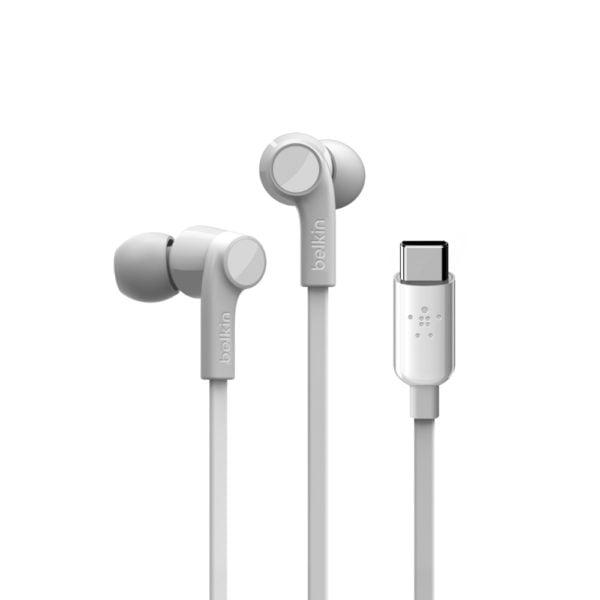 belkin ακουστικά με υποδοχή usbc χρώμα λευκό